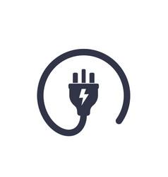uk electric plug icon vector image
