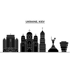 Ukraine kiev architecture city skyline vector