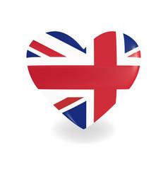 Volumetric united kingdom heart on white vector