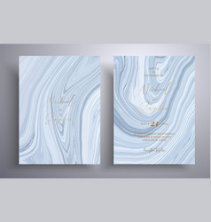wedding invitation with marble pattern vector image