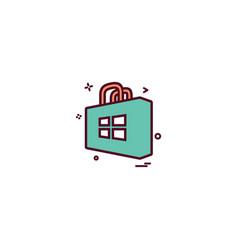windows store icon design vector image