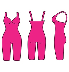 Woman outlined slimming underwear vector
