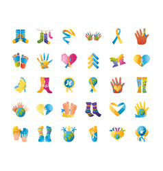 World down syndrome day support campaign message vector