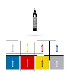 Big Ben in London icon vector image