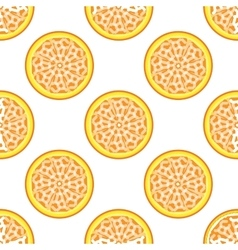 Orange abstract seamless pattern vector