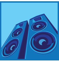 powerful speaker system vector image