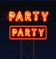 street sign that says party vector image