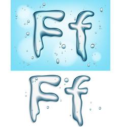 water typeface vector image