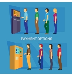 Payment options banking finance money flat vector image vector image