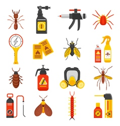 Pest Control Icons Set vector image