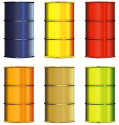 Set of barrels vector image vector image