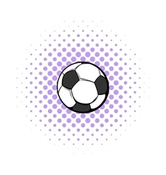 Soccer ball icon comics style vector image