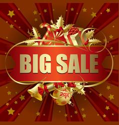 big sale christmas banner vector image