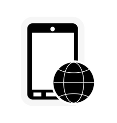 cellphone and play icon vector image vector image