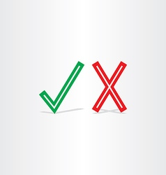 check mark yes and no symbol design element vector image