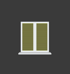 Closed window blinds vector