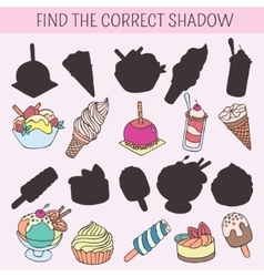Find the correct shadow educational game for vector