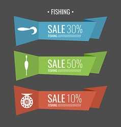 Fishing Sale Banner vector image vector image