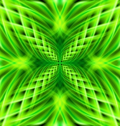 Green pattern on the black background vector image vector image