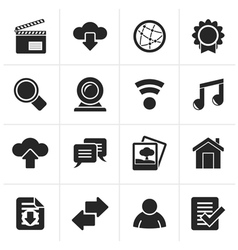 Black Internet and website icons vector image vector image