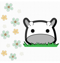 Cute little cow vector image