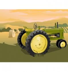 farm tractor scene vector image