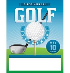 Golf Tournament Flyer Vector Image Vector Image