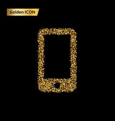 icon smartphone circles vector image vector image