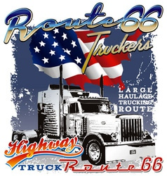 route 66 us flag vector image