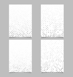 abstract dot pattern flyer design set - cover vector image