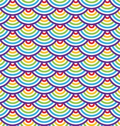 Abstract geometric seamless pattern Colorful scaly vector image