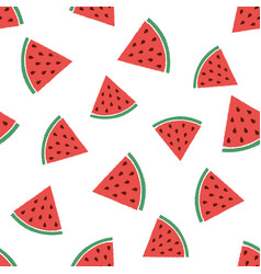 abstract pattern with watermelons vector image