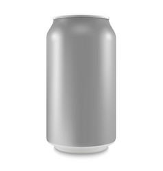 Aluminum can empty layout for your design vector