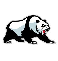 angry panda mascot vector image