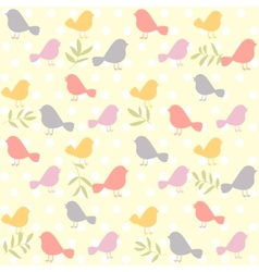 birds pattern retro vector image vector image