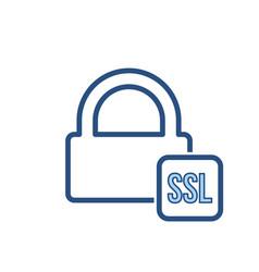 blocked lock office ssl icon vector image