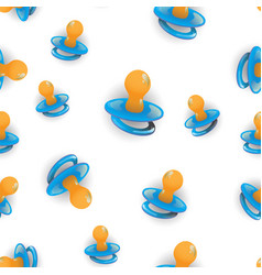 Blue nipple seamless pattern vector