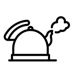 Boiling keetle icon outline style vector