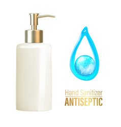 Bottle hand sanitizer antimicrobial liquid gel vector