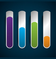 Business abstract status bars vector