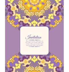 Card or invitation Vintage decorative ornament vector