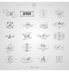 Catchwords decorative set vector
