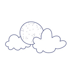 clouds sun weather nature isolated icon design vector image