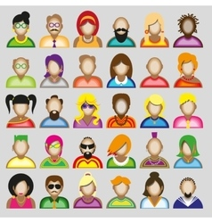 Creative modern icons avatars with people vector