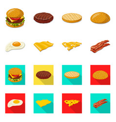 design of burger and sandwich logo vector image