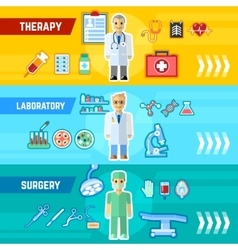 Doctor Banner Set vector image