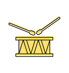 drums musical instrument icon vector image
