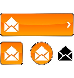 E-mail button set vector