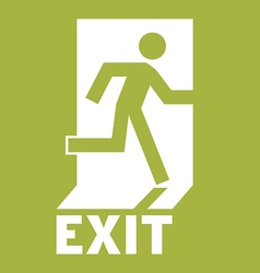 Emergency Exit Icon vector
