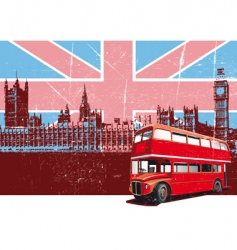 English style poster vector